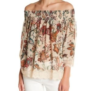 Willow & Clay Smock Off-The-Shoulder Floral Blouse